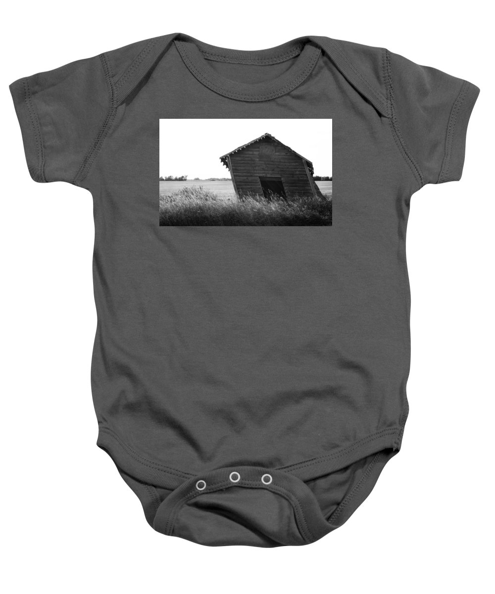 Old Barn Baby Onesie featuring the photograph Push by The Artist Project