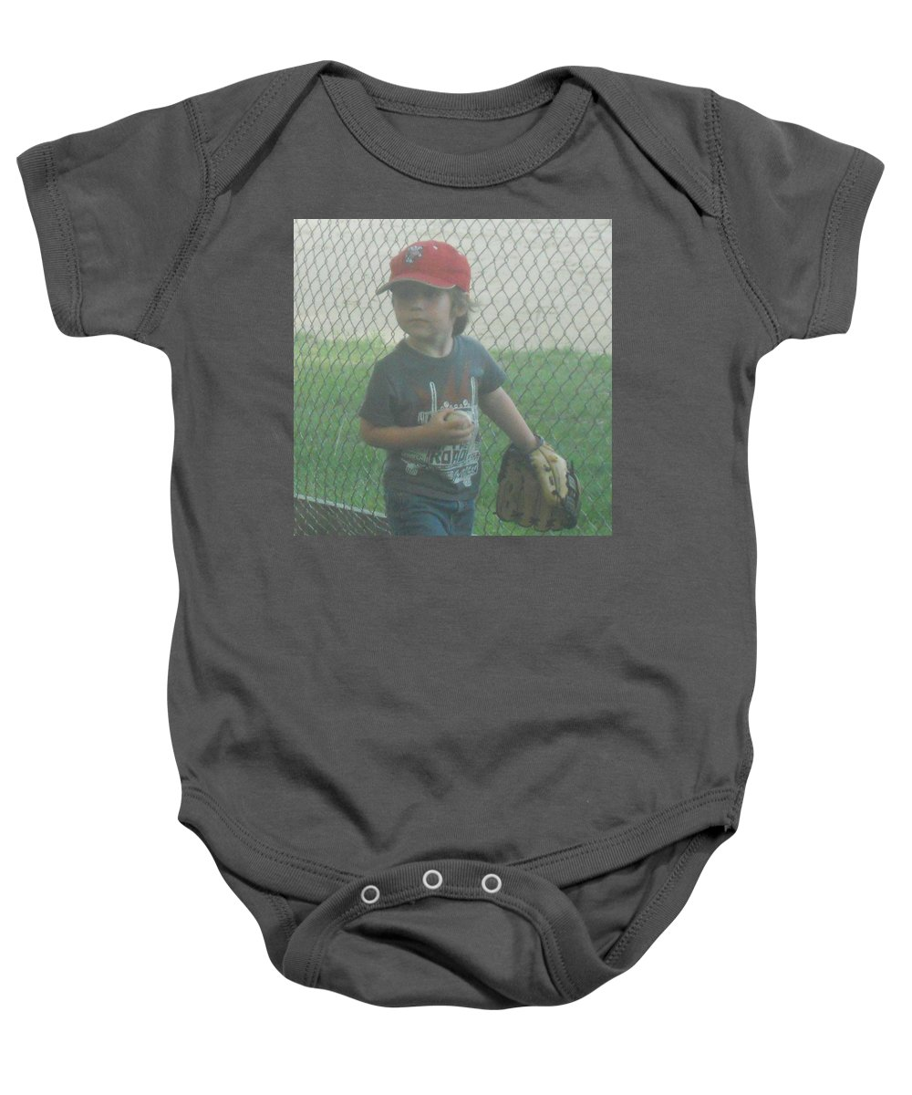 Softball Baby Onesie featuring the photograph Put Me In by Coleen Harty