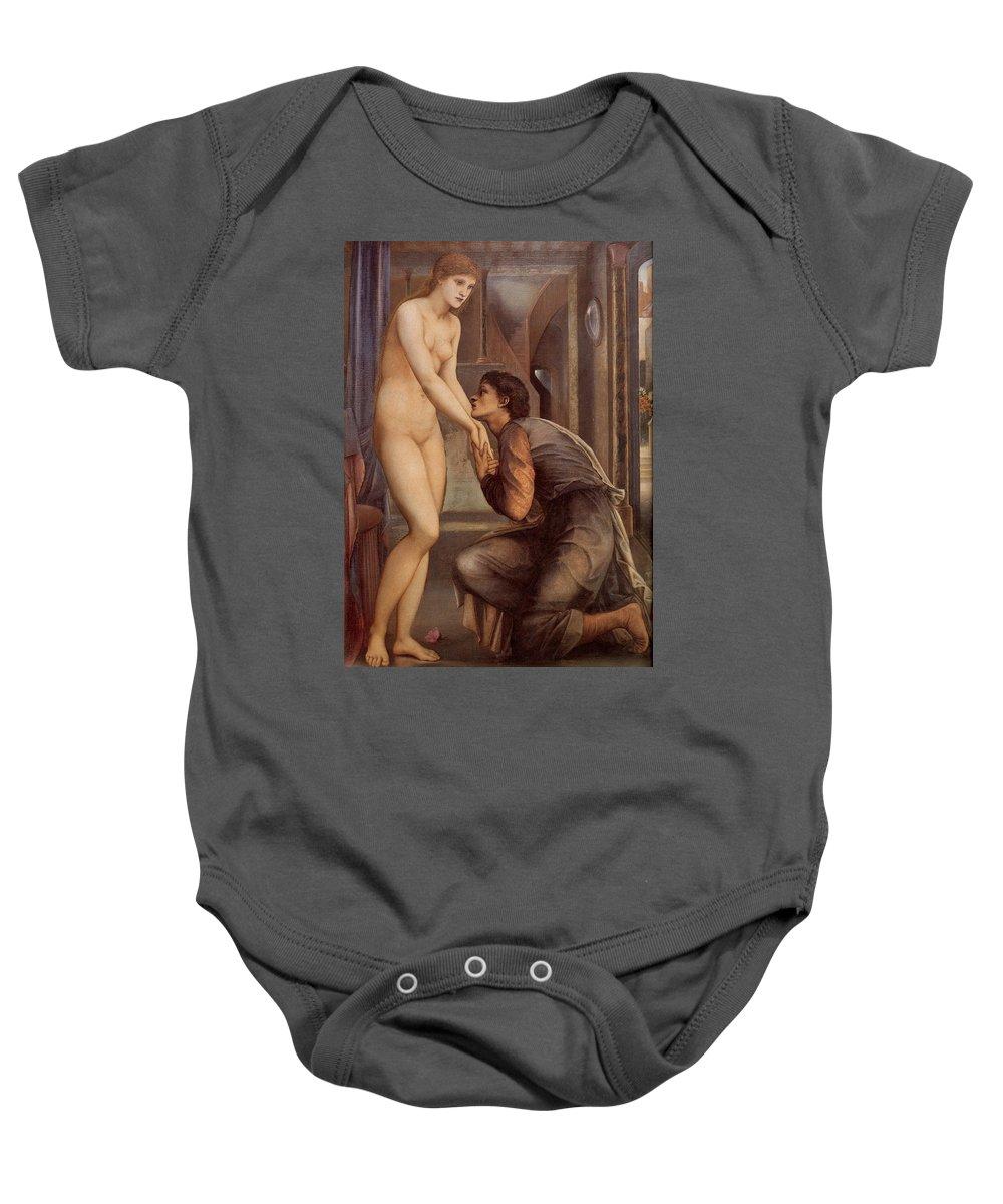 Edward Burne Jones Baby Onesie featuring the digital art Pygmalion And The Image Iv by Edward Burne Jones