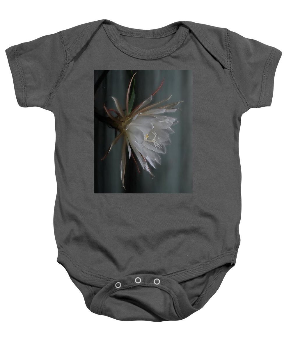 Floral Baby Onesie featuring the photograph Queen Of The Night by Susan Capuano