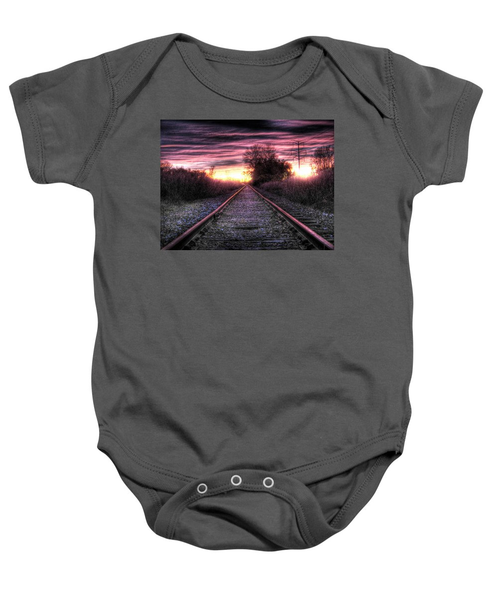 Photography Baby Onesie featuring the photograph Radiant Orchid by Jane Linders
