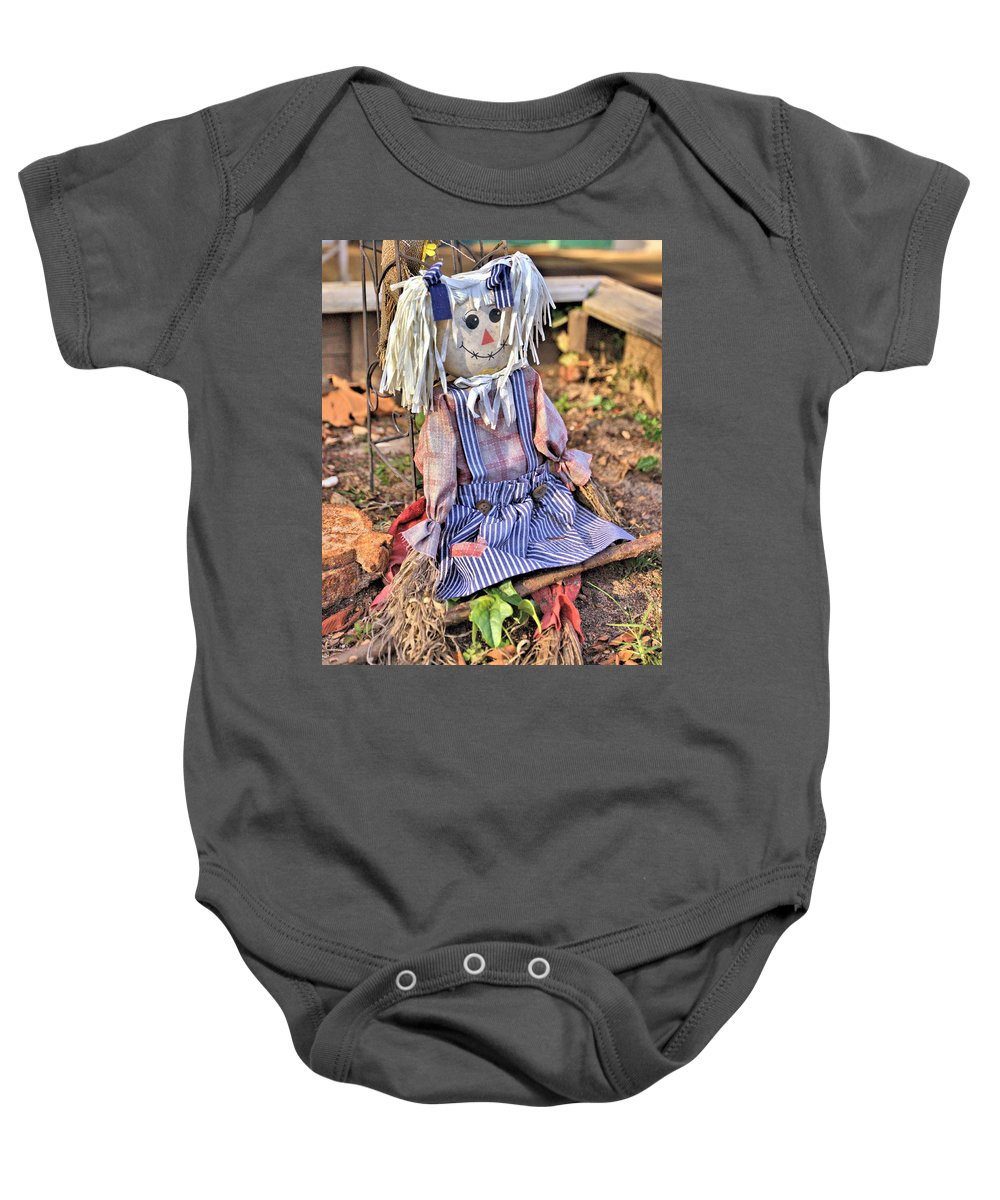 7321 Baby Onesie featuring the photograph Raggedy Ann by Gordon Elwell