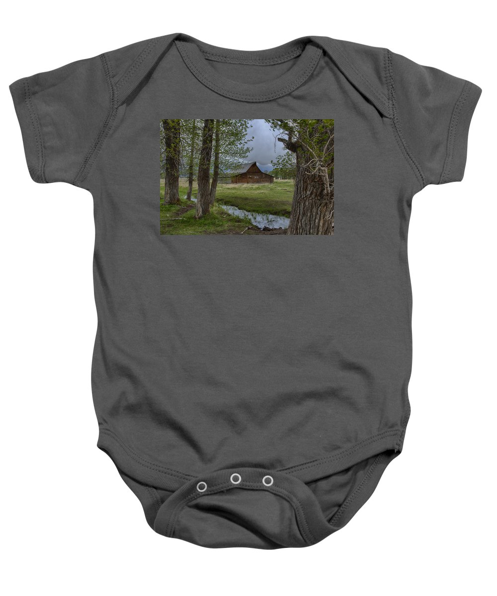 Cloud Cover Baby Onesie featuring the photograph Rainy Day by Jack R Perry