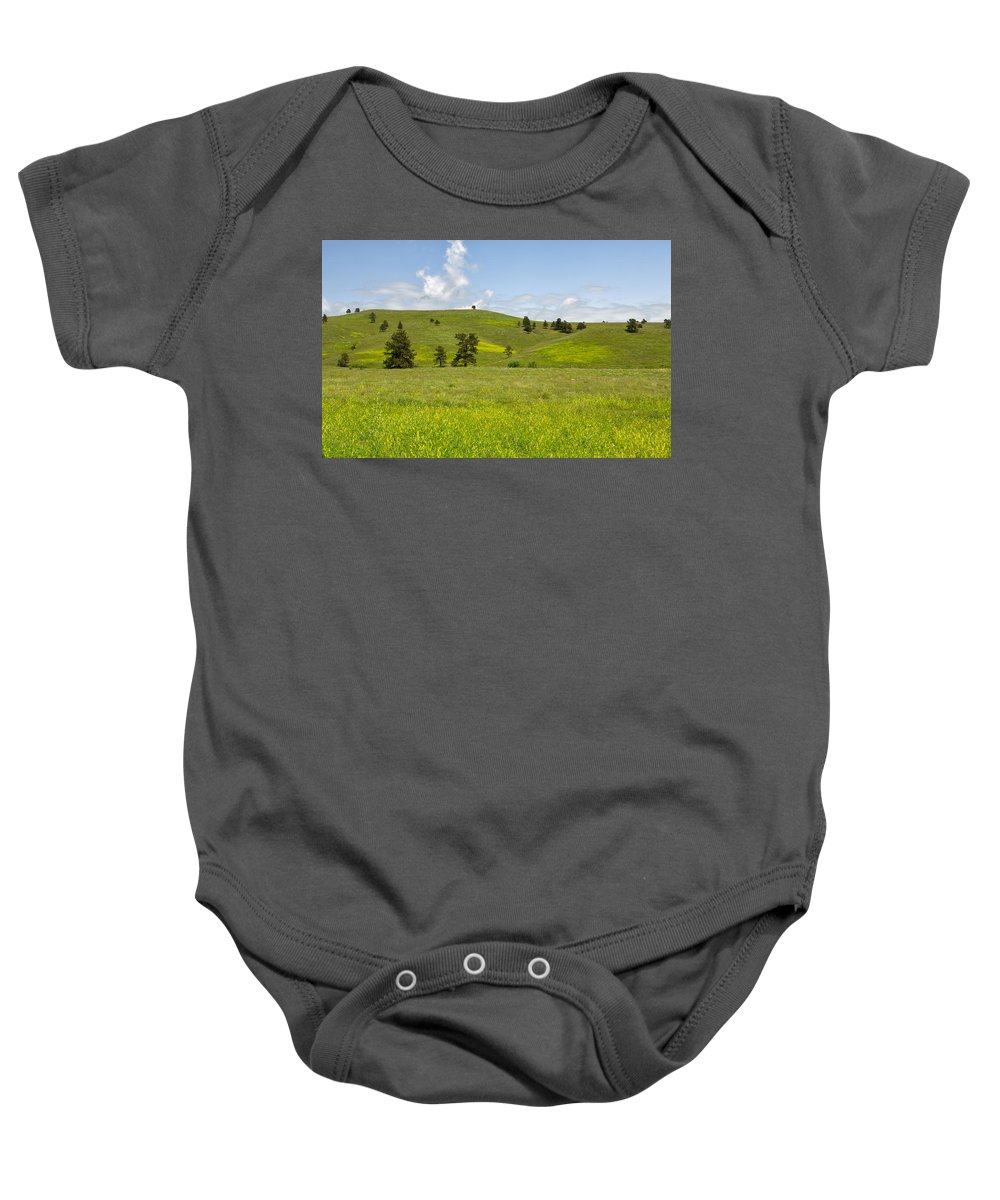 Tree Baby Onesie featuring the photograph Rangelands Of Custer State Park by John M Bailey