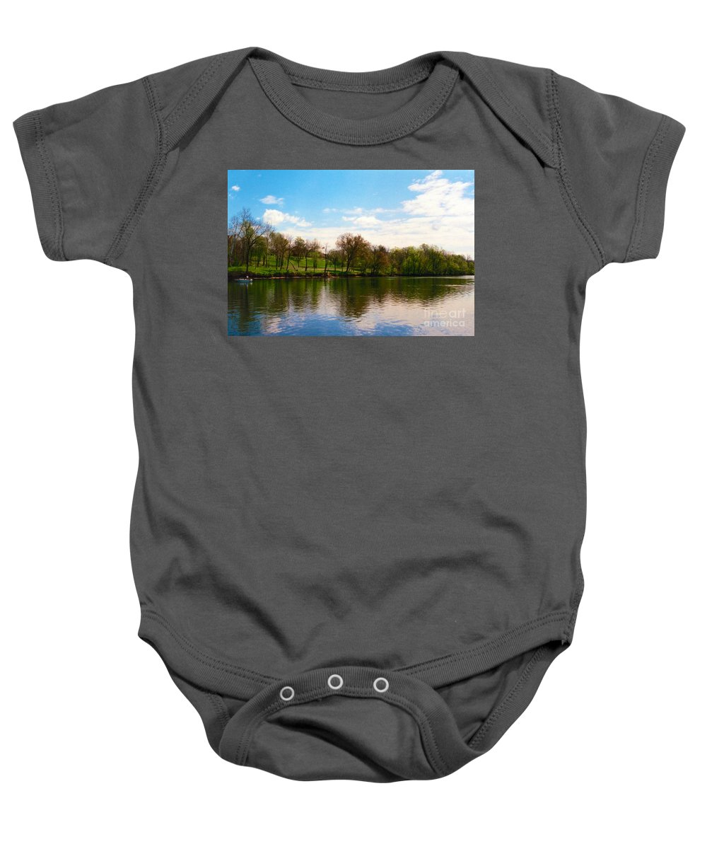 Colorful Baby Onesie featuring the photograph Rappahannock River I by Anita Lewis