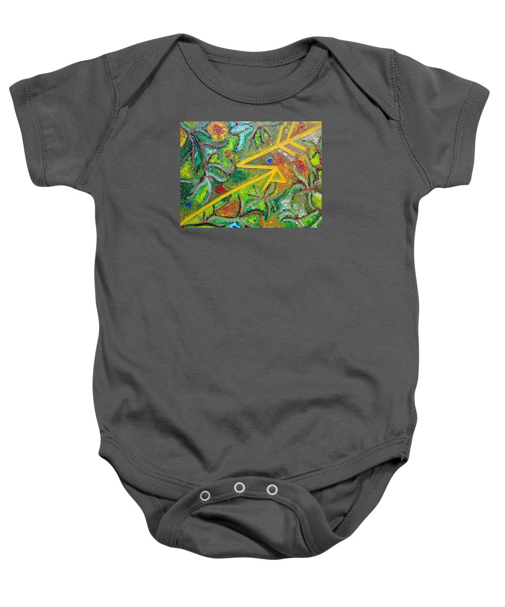Spiritual Baby Onesie featuring the painting Reaching4fulfillment by Joanna Pilatowicz