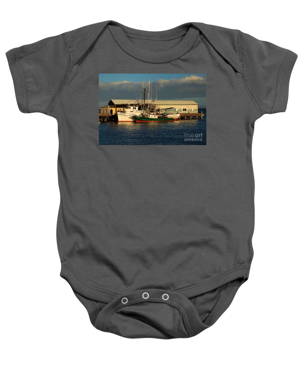 Port Angles Baby Onesie featuring the photograph Ready For The Day by Adam Jewell