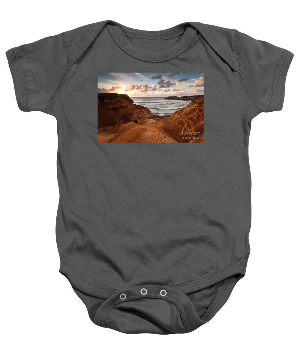 Landscape Baby Onesie featuring the photograph Red Dunes Sunrise by Matteo Colombo