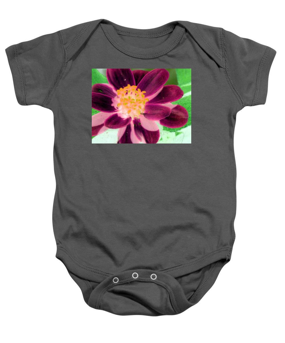 Flower Baby Onesie featuring the photograph Red Flower - Photopower 256 by Pamela Critchlow