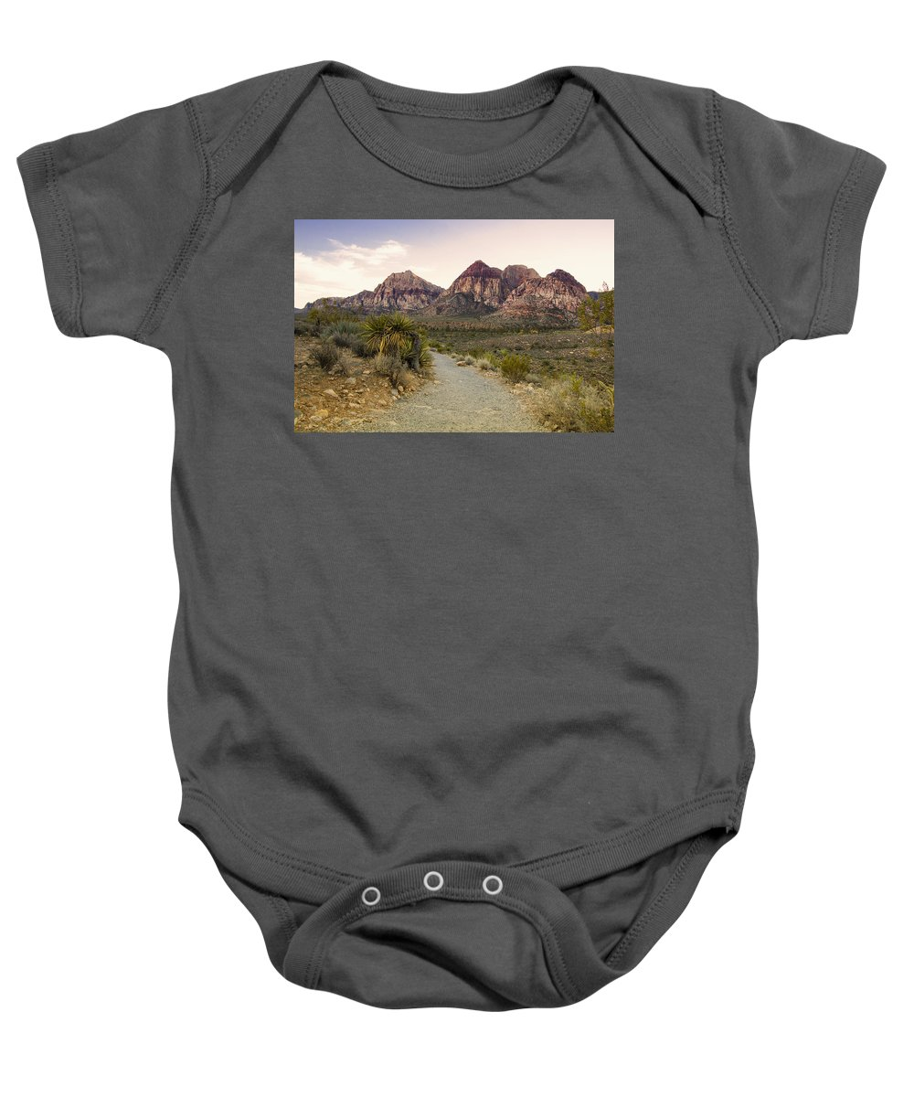 Vegas Baby Onesie featuring the photograph Red Rock Canyon Trailhead by Stephanie McDowell