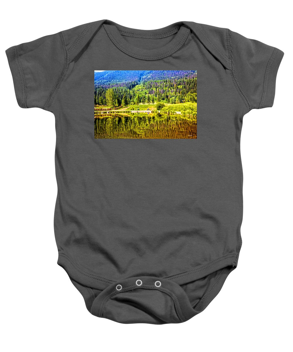 Vail Baby Onesie featuring the photograph Reflections On A Summer Day - Vail - Colorado by Madeline Ellis