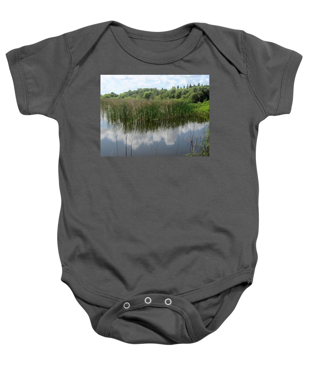 Lake Baby Onesie featuring the photograph Reflections On The Lake by Jo Jurkiewicz