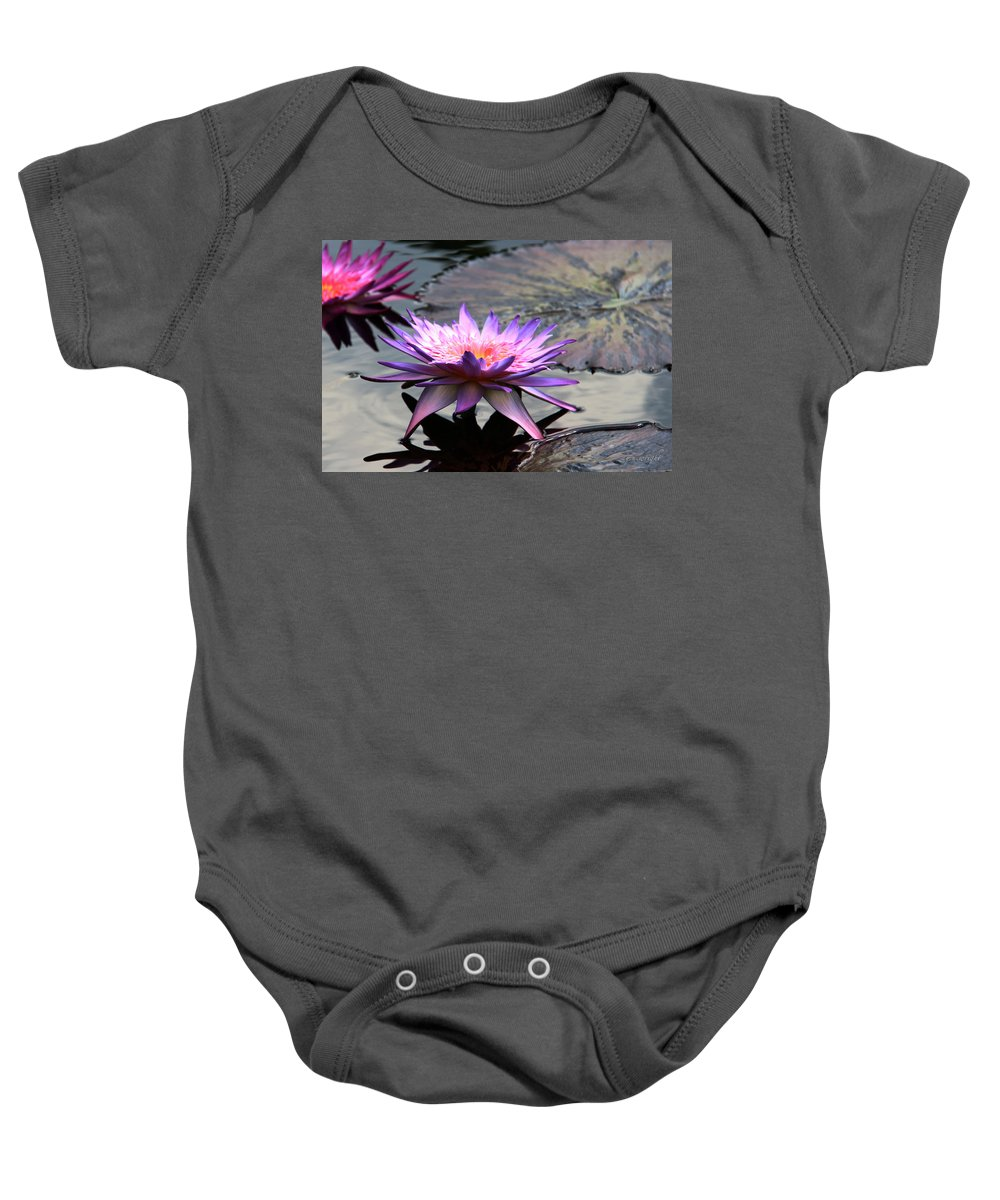 Photograph Baby Onesie featuring the photograph Dark Water Reflections by Yvonne Wright
