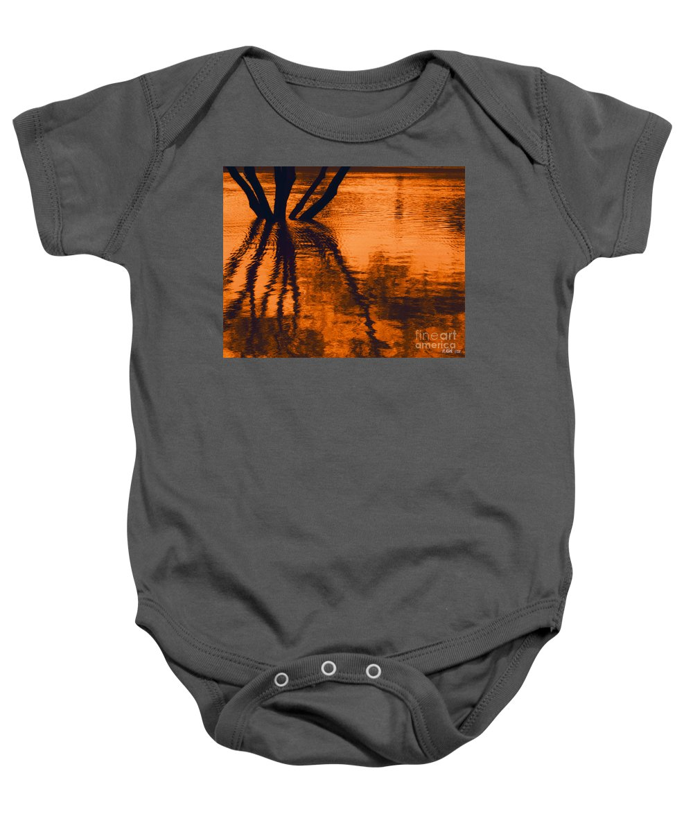 Water Baby Onesie featuring the photograph Reflectivity by Heather Kirk