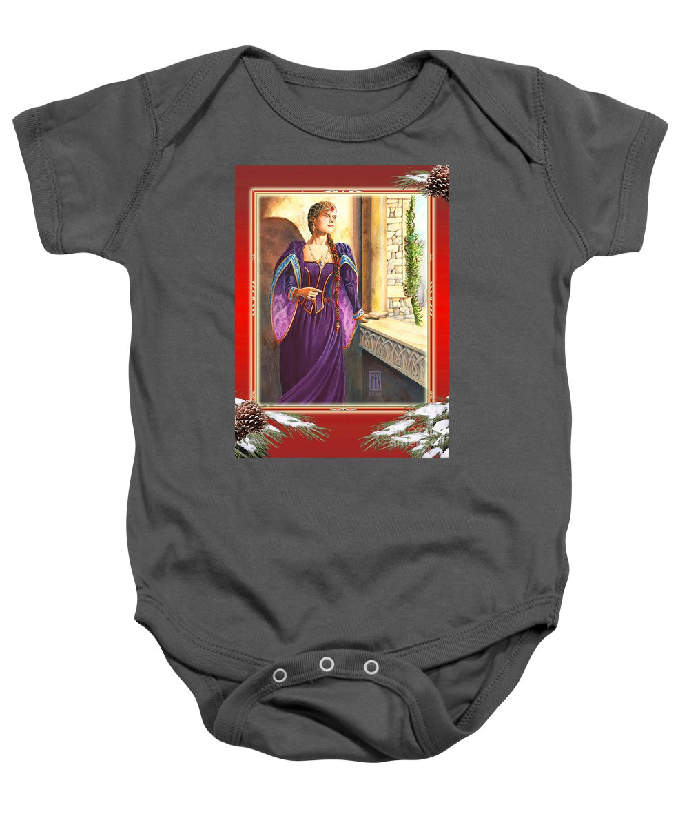 Christmas Baby Onesie featuring the digital art Renaissance Christmas by Melissa A Benson