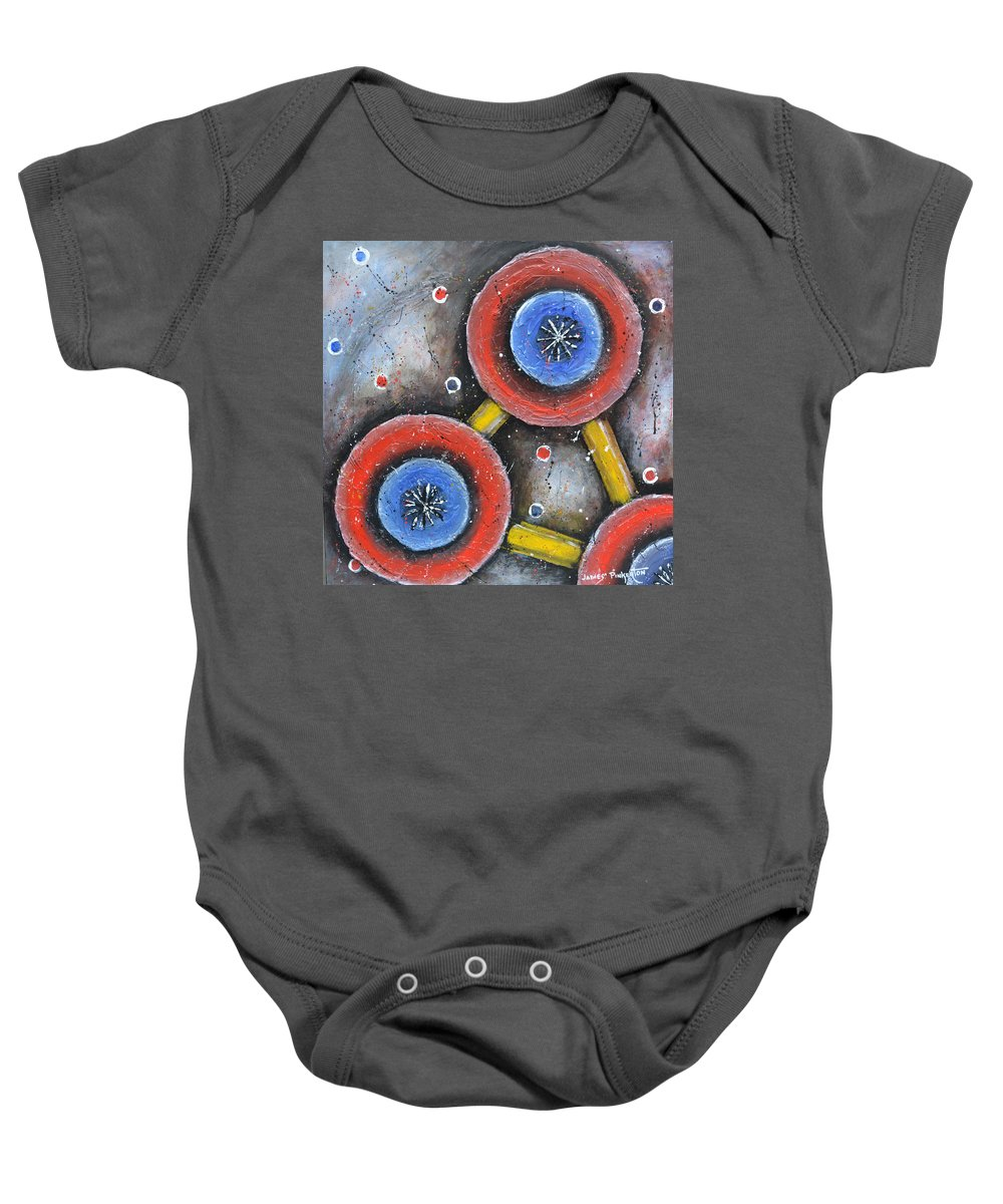 Replication Baby Onesie featuring the painting Replication by James Pinkerton