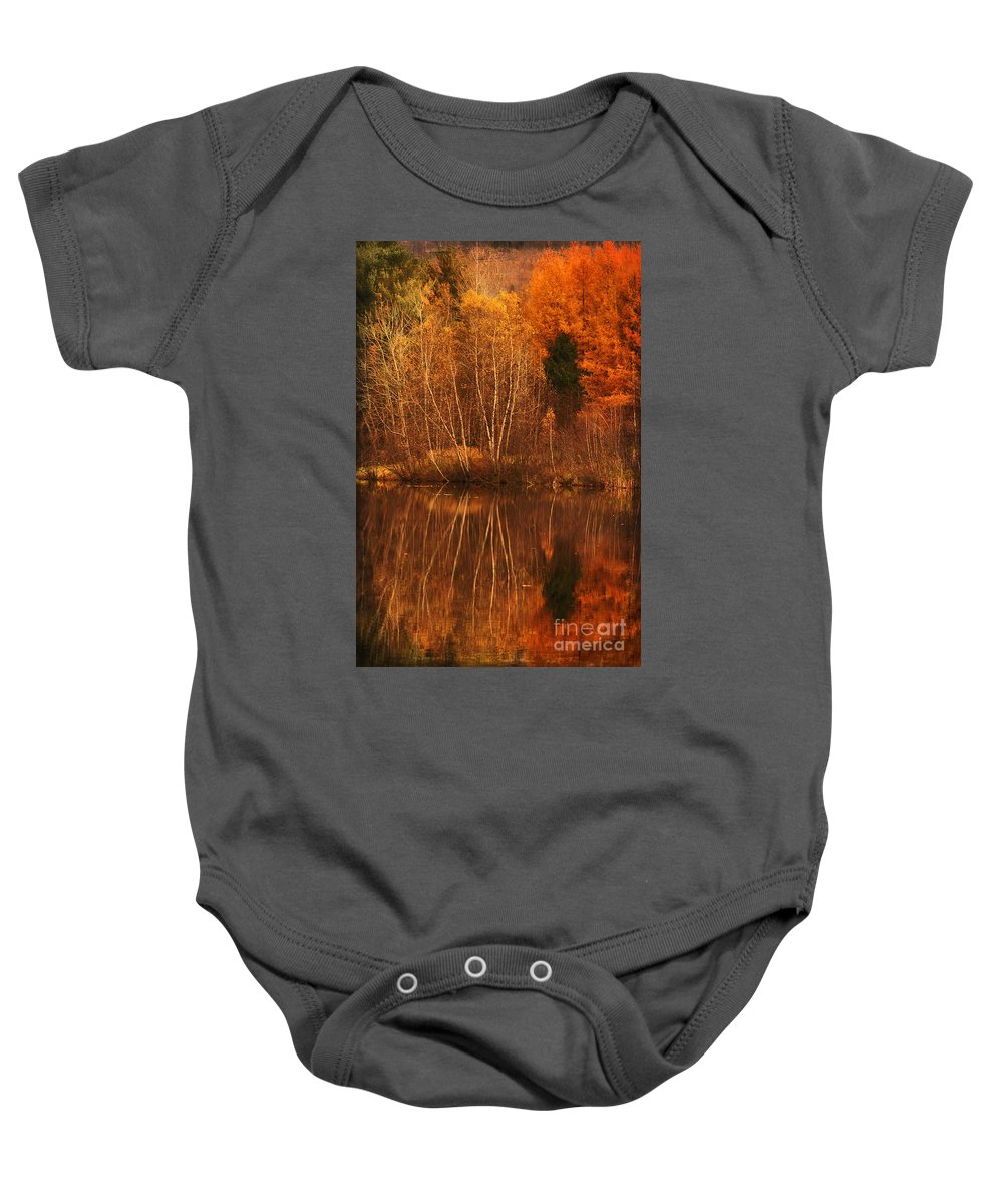 Autumn Baby Onesie featuring the photograph Restes D'automne by Aimelle