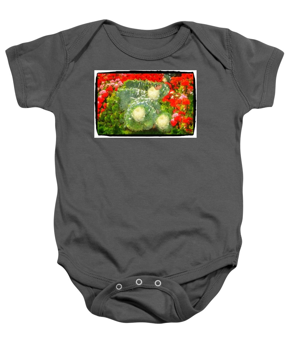 Geranium Baby Onesie featuring the photograph Resting by Image Takers Photography LLC - Carol Haddon
