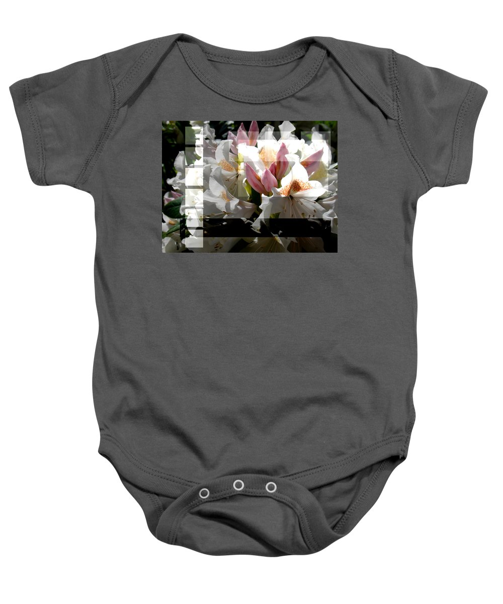 Rhododendron Baby Onesie featuring the photograph Rhododendron Collage by Steve Karol