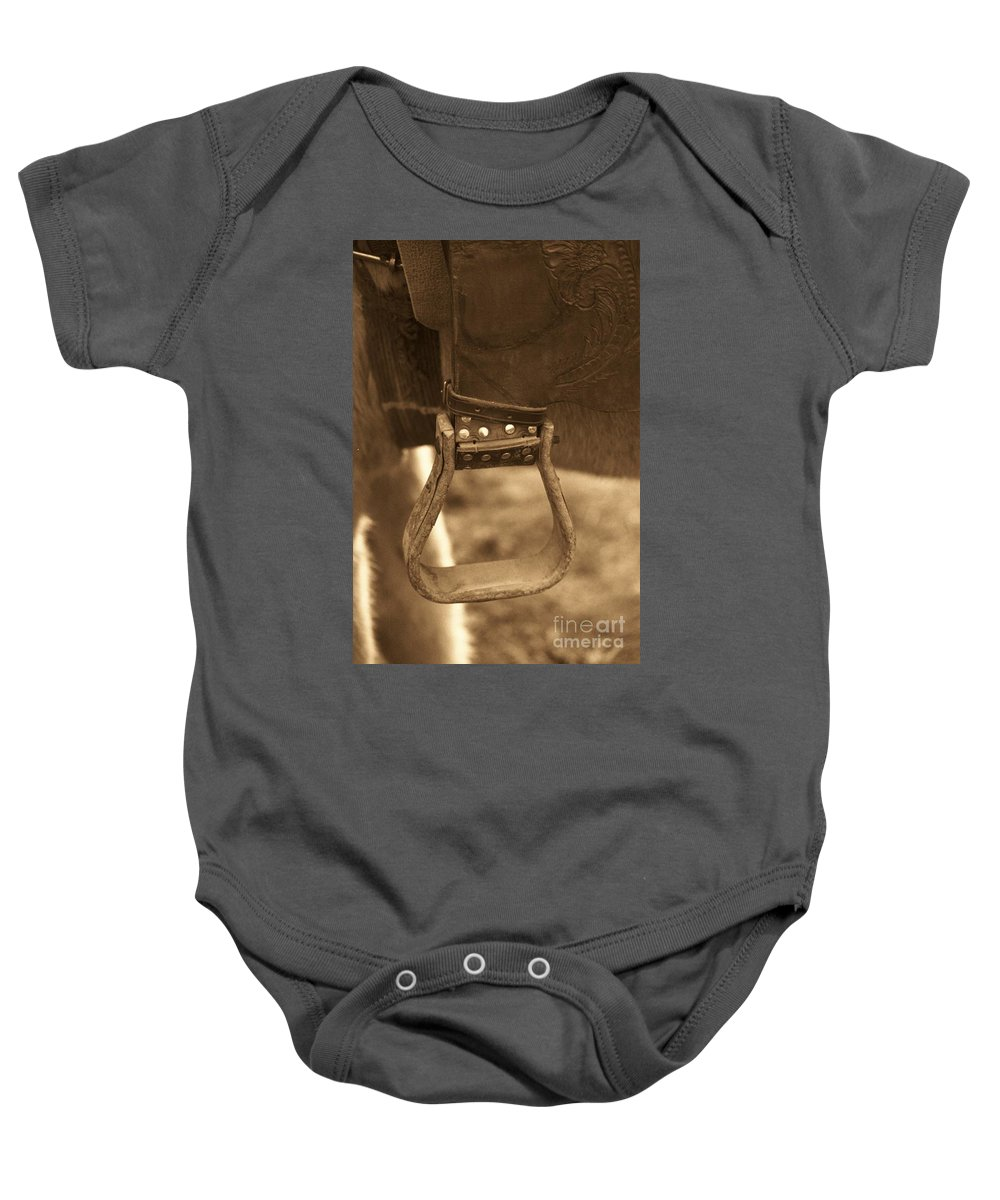 Horse Baby Onesie featuring the photograph Ride On by Brandi Maher