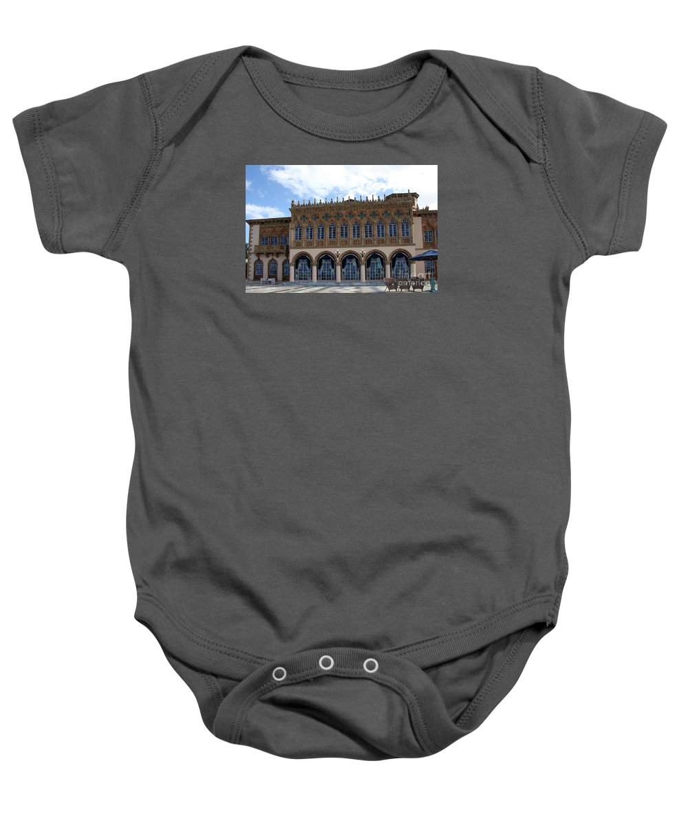 Ringling Baby Onesie featuring the photograph Ringling House Sarasota by Christiane Schulze Art And Photography