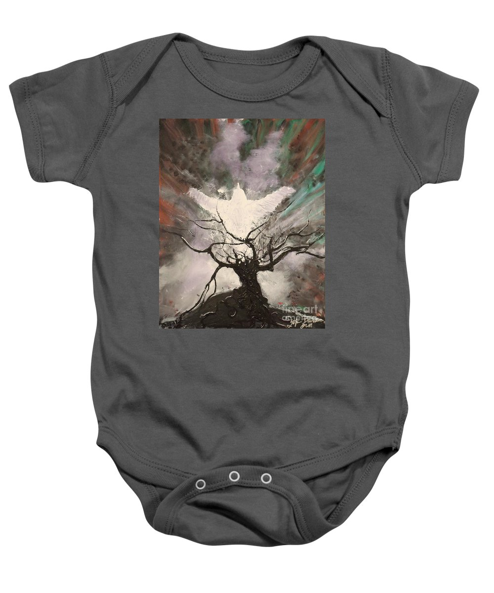 Impressionism Baby Onesie featuring the painting Rising From The Ash by Stefan Duncan