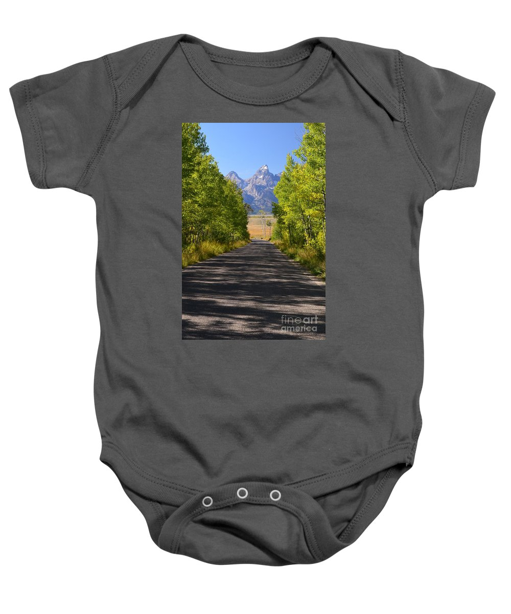 Landscape Baby Onesie featuring the photograph Road To Happiness by Deanna Cagle