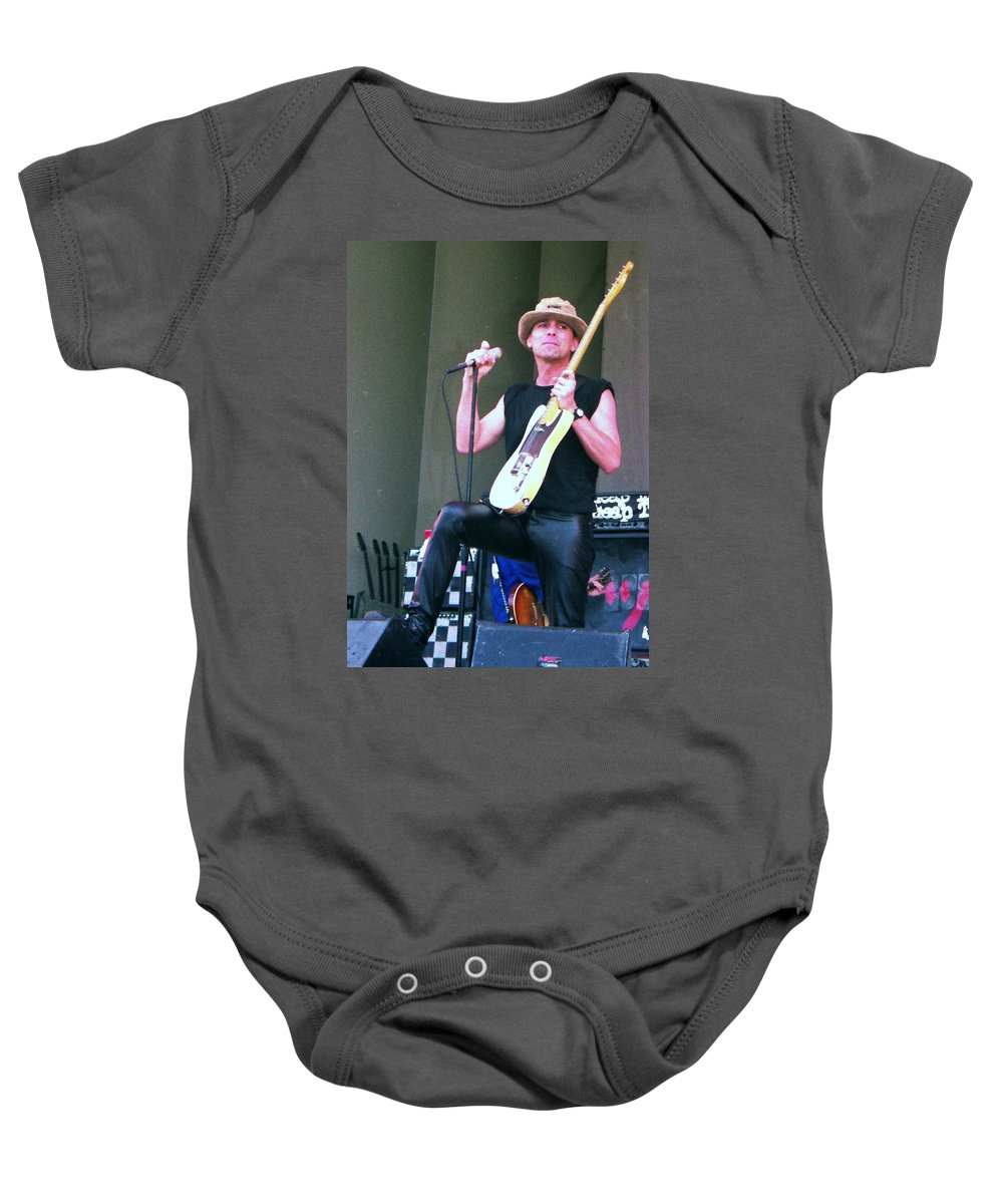 Cheap Trick Chicago Baby Onesie featuring the photograph Robin Zander by Sheryl Chapman Photography