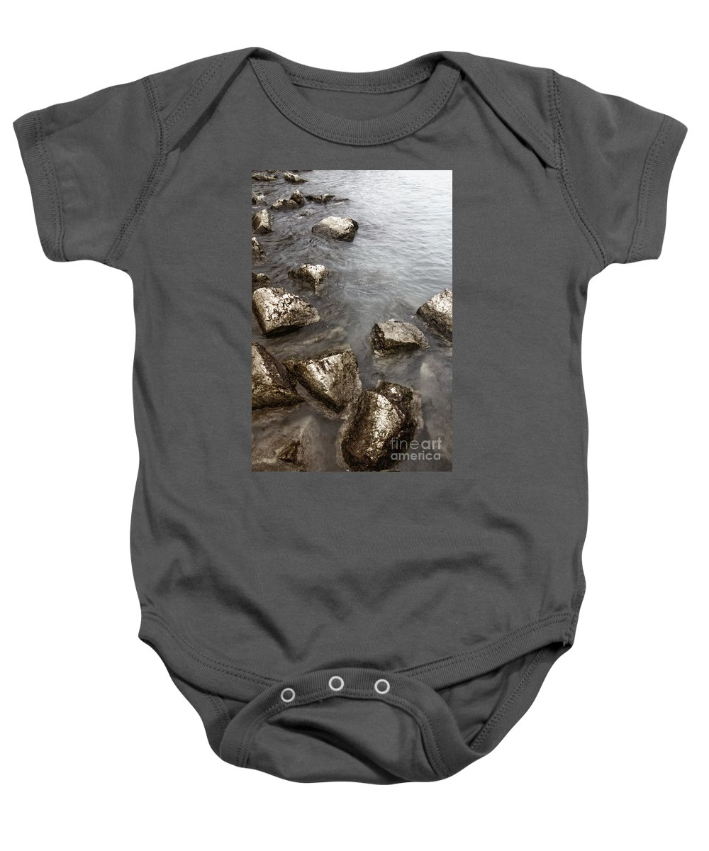 Water Baby Onesie featuring the photograph Rocky by Margie Hurwich