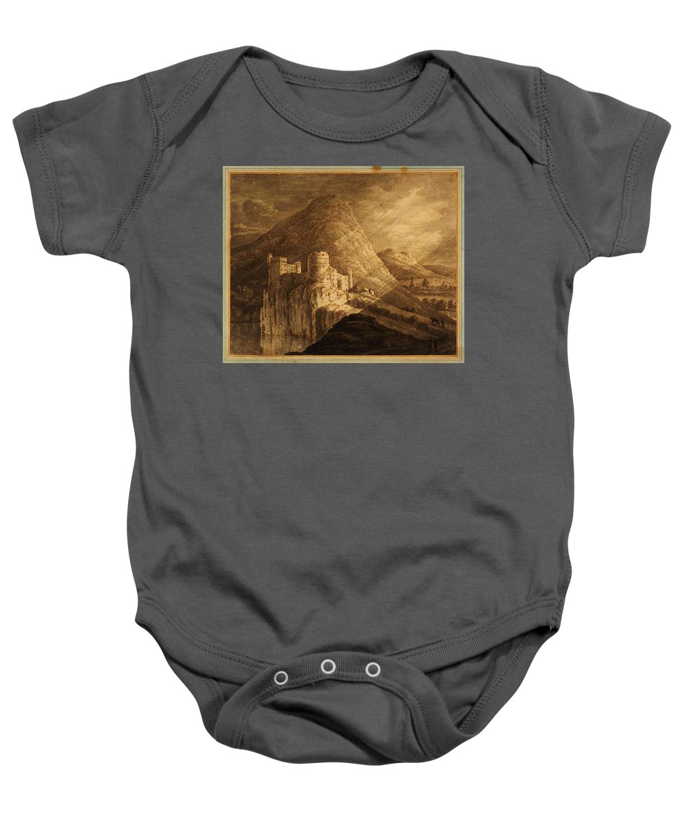Robert Adamromantic Castle Baby Onesie featuring the painting Romantic Castle by Celestial Images