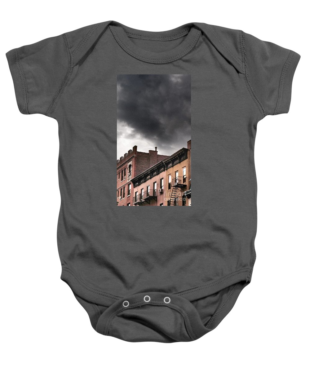 Rooftop Baby Onesie featuring the photograph Rooftops Of New York by Miriam Danar
