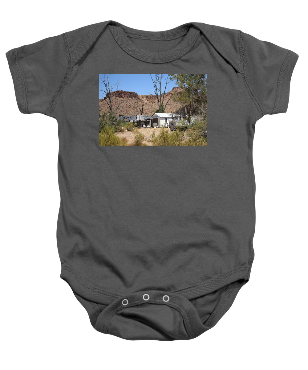 66 Baby Onesie featuring the photograph Route 66 - Ed's Camp by Frank Romeo