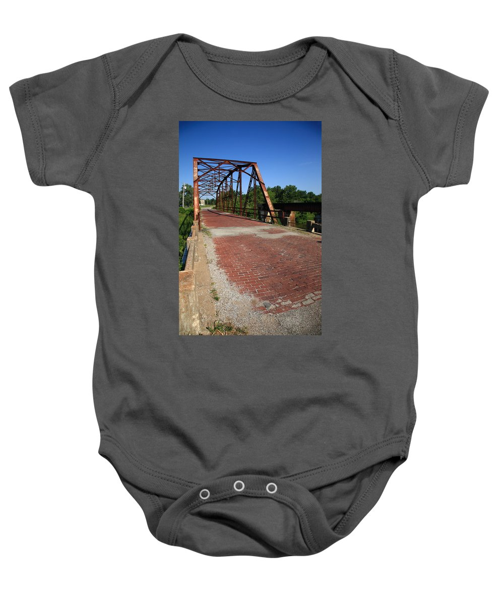 66 Baby Onesie featuring the photograph Route 66 - One Lane Bridge by Frank Romeo