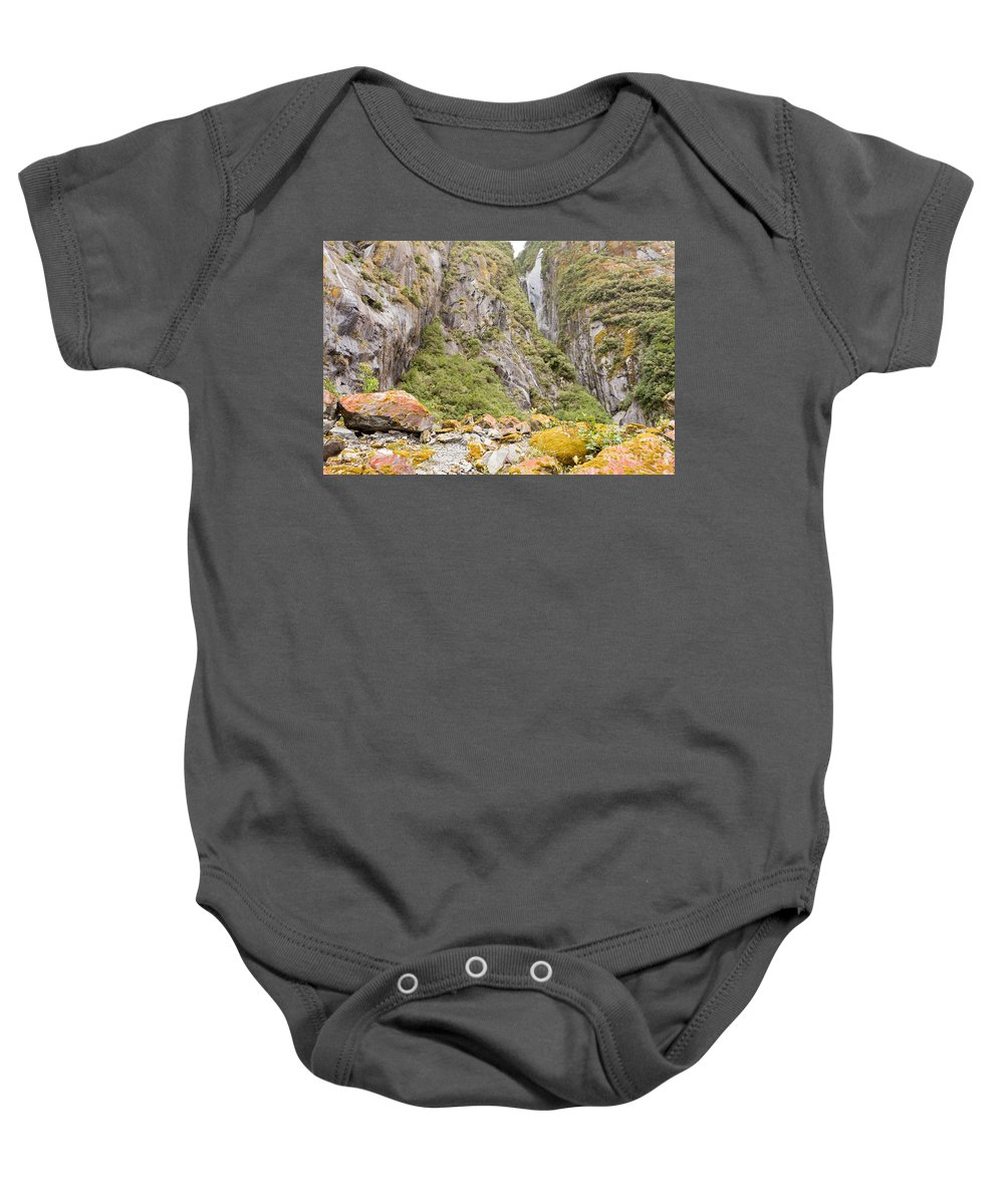 Abstract Baby Onesie featuring the photograph Rugged Mountain Wilderness Vegetation by Stephan Pietzko