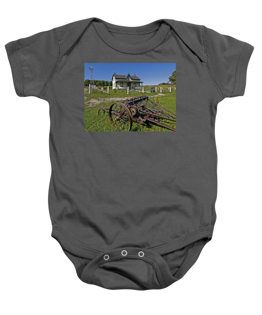 Grey Roots Museum & Archives Baby Onesie featuring the photograph Rural Ontario by Steve Harrington