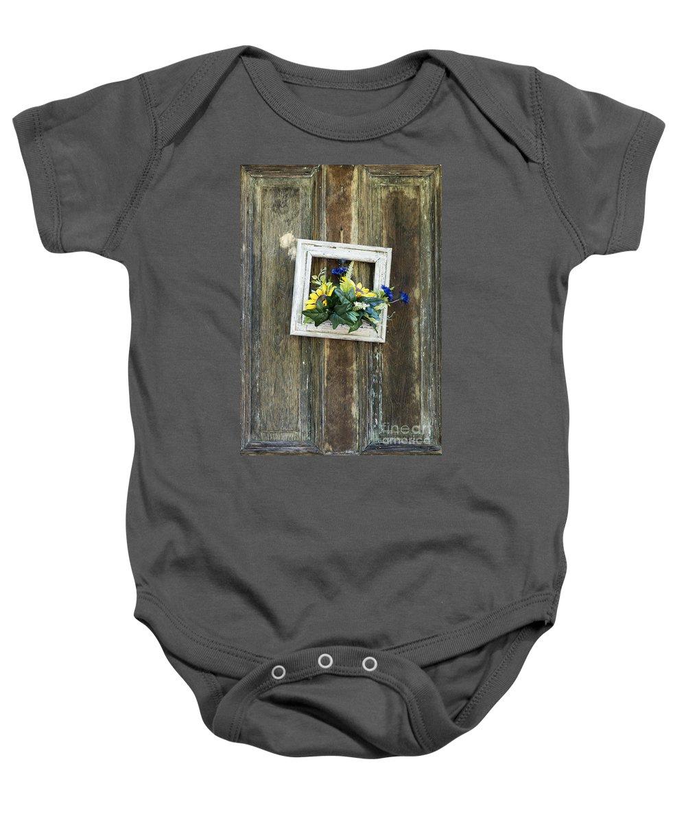 Decoration Baby Onesie featuring the photograph Rustic Door by John Greim