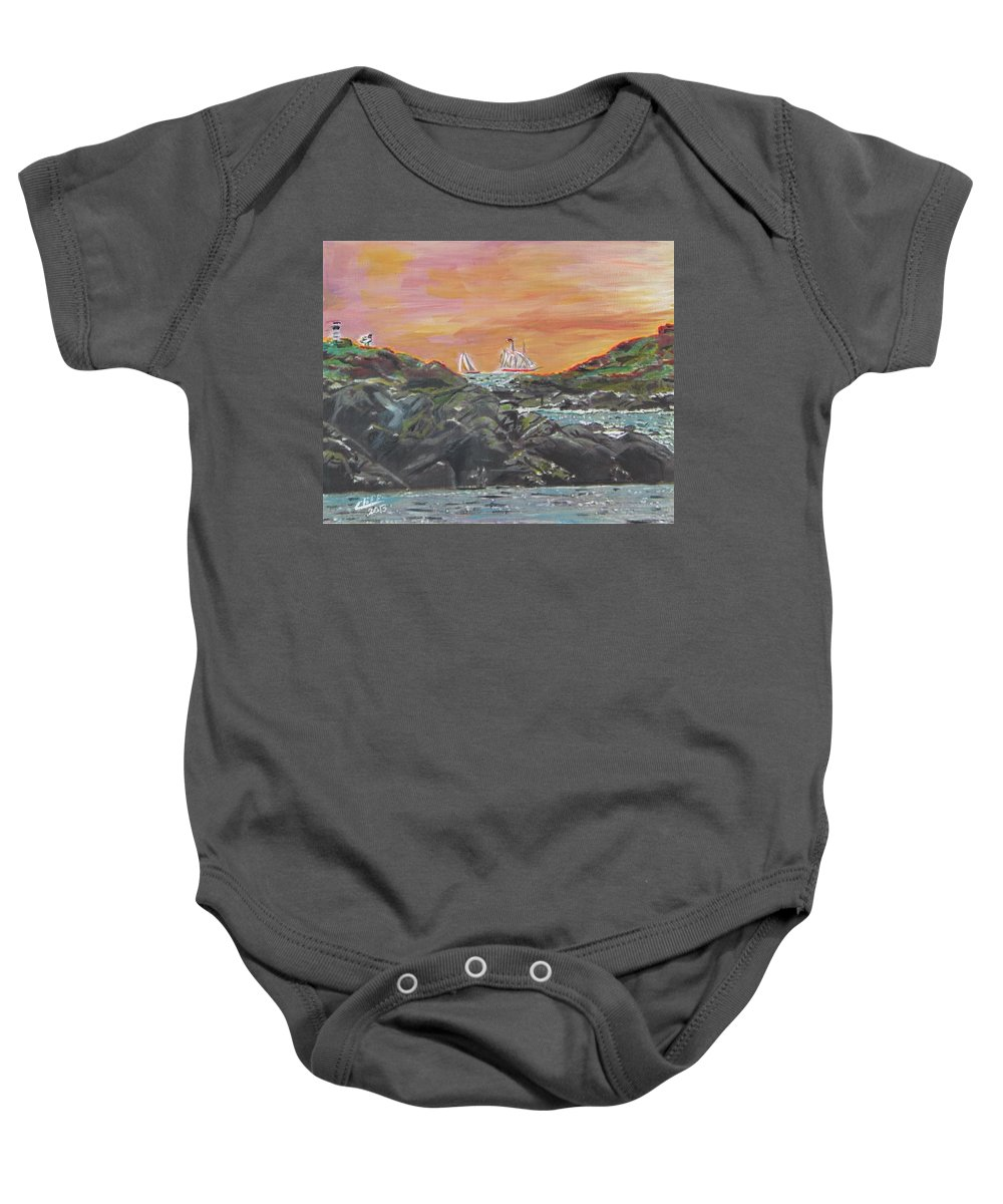 Nature Baby Onesie featuring the painting Sailor's Delight by Cliff Wilson