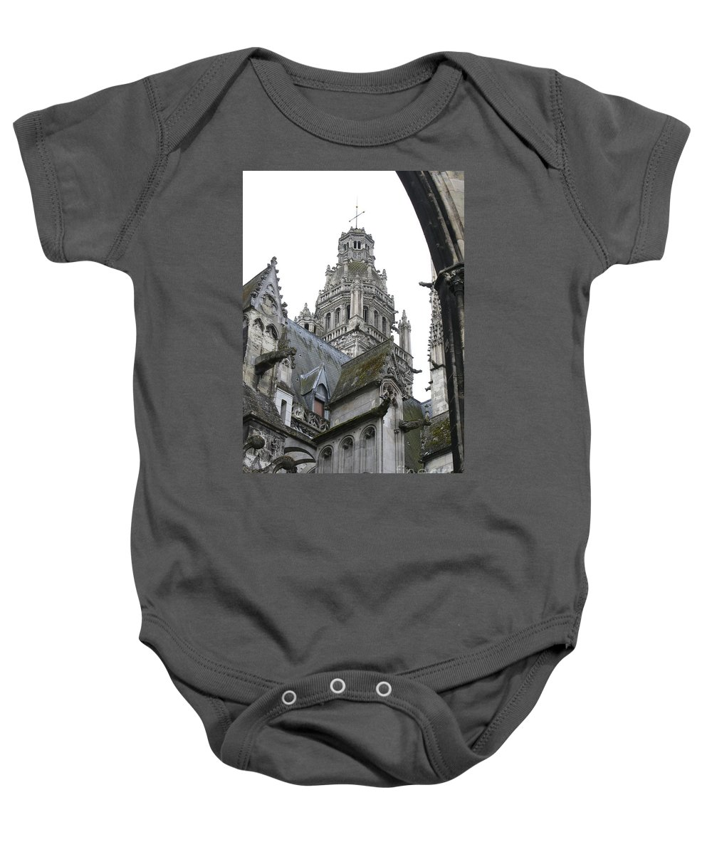 Cathedral Baby Onesie featuring the photograph Saint Gatien's Cathedral Steeple by Christiane Schulze Art And Photography