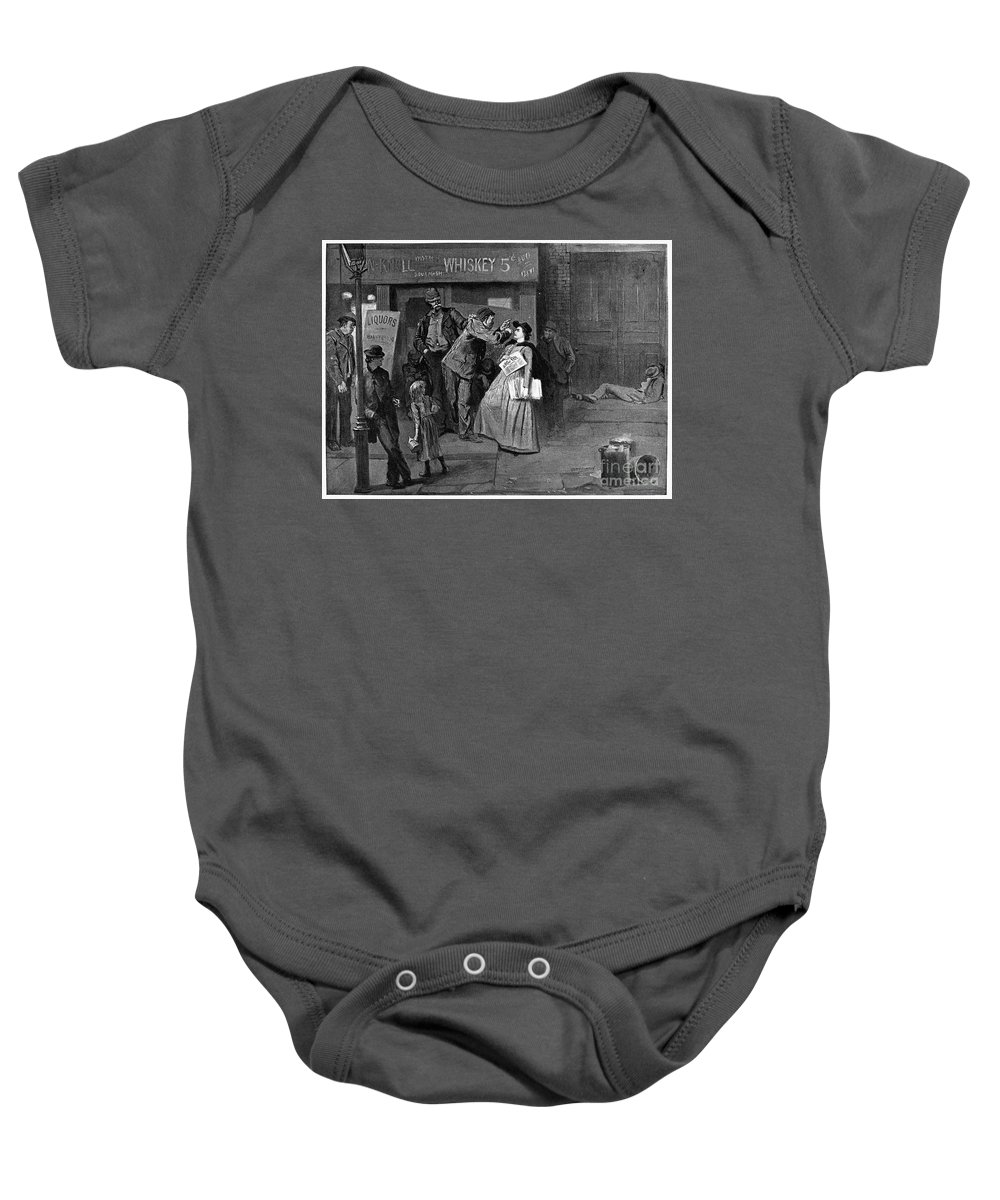 1894 Baby Onesie featuring the photograph Salvation Army In Slums by Granger