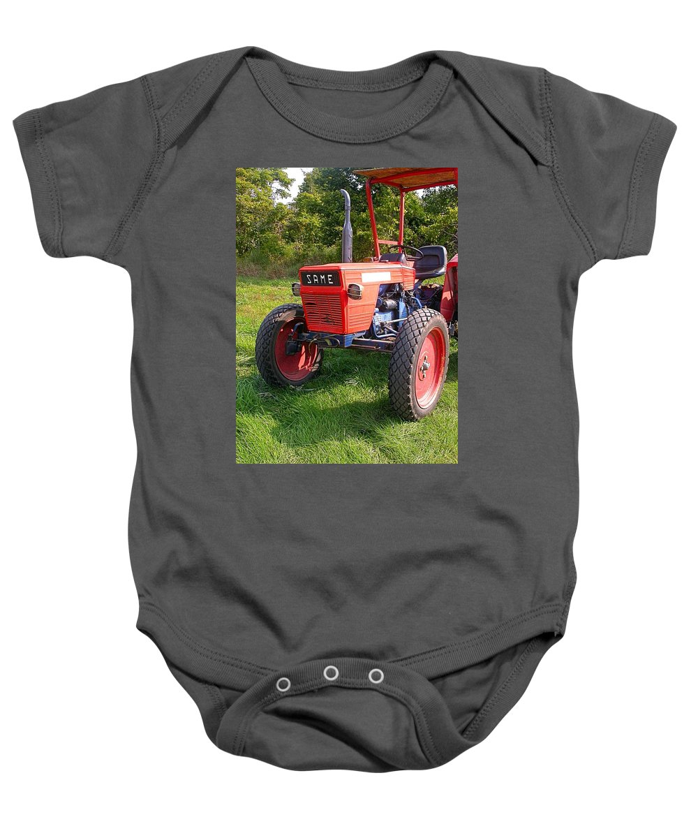 Farm Tractor Baby Onesie featuring the photograph Same by Cynthia Wallentine