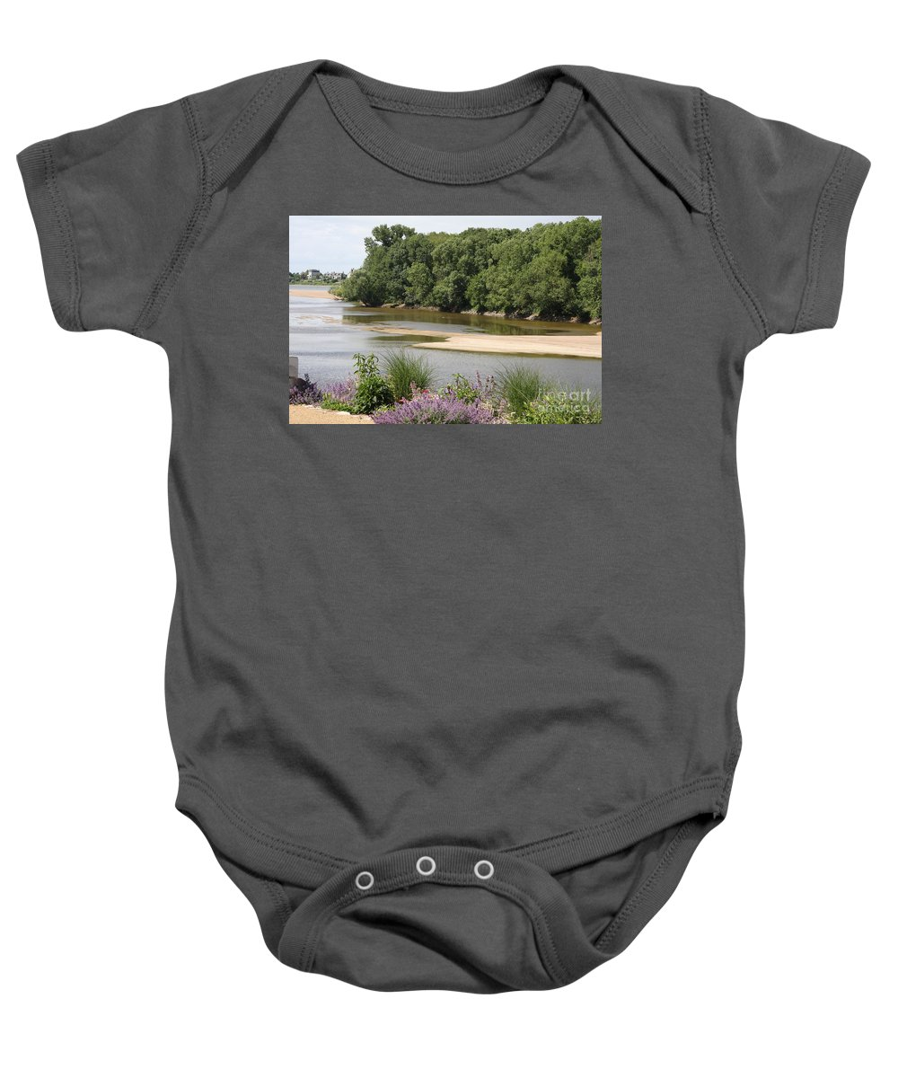 River Baby Onesie featuring the photograph Sandbanks In The River by Christiane Schulze Art And Photography