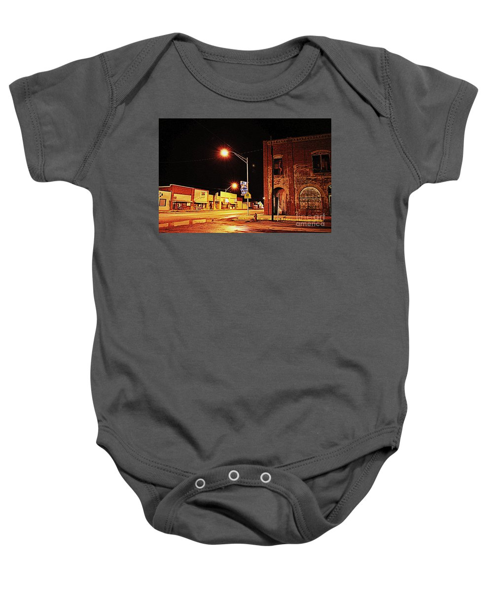 Santa Baby Onesie featuring the photograph Santa Claus Is Coming To Town by Anjanette Douglas