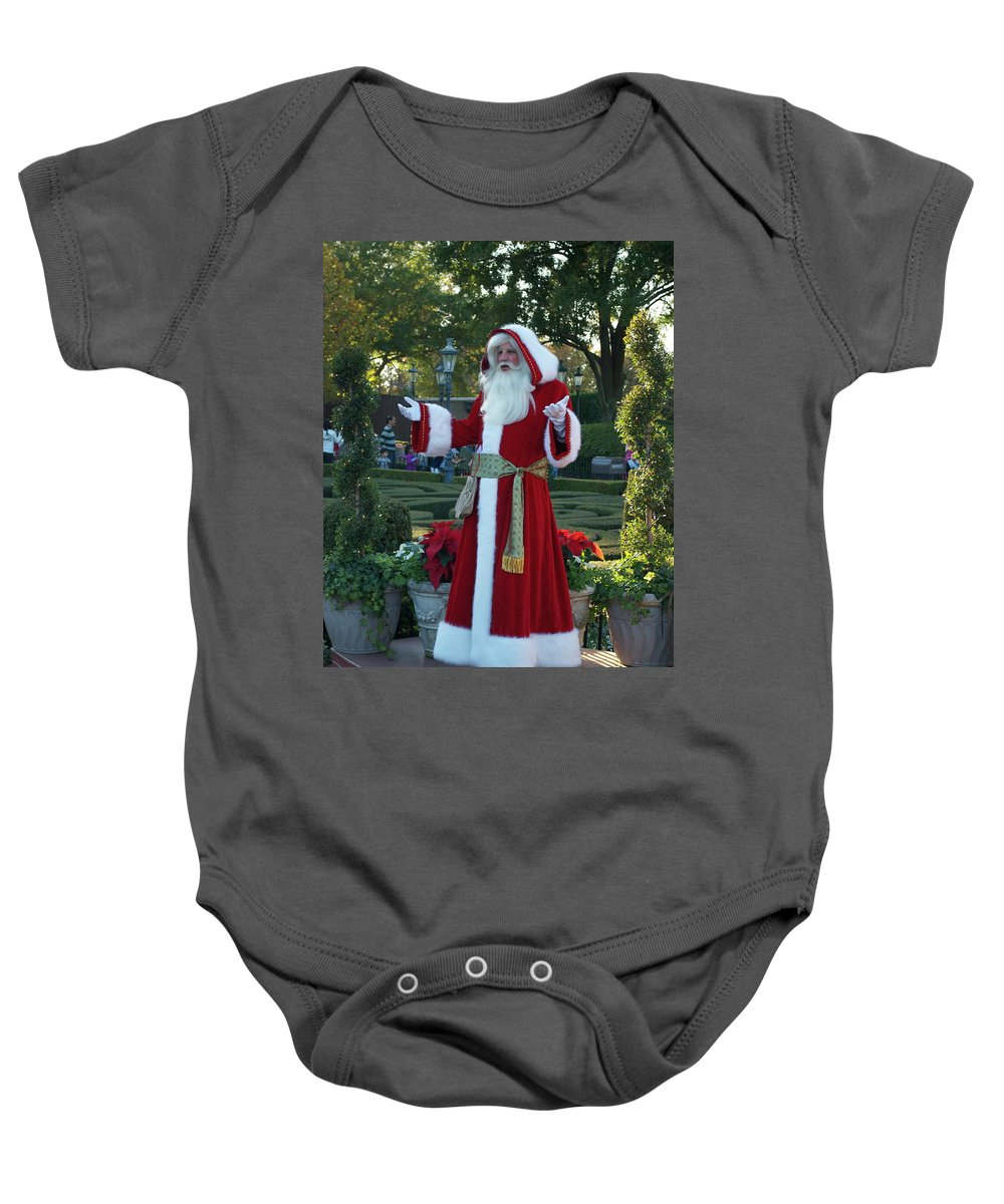 Santa Baby Onesie featuring the photograph Santa Walt Disney World by Thomas Woolworth