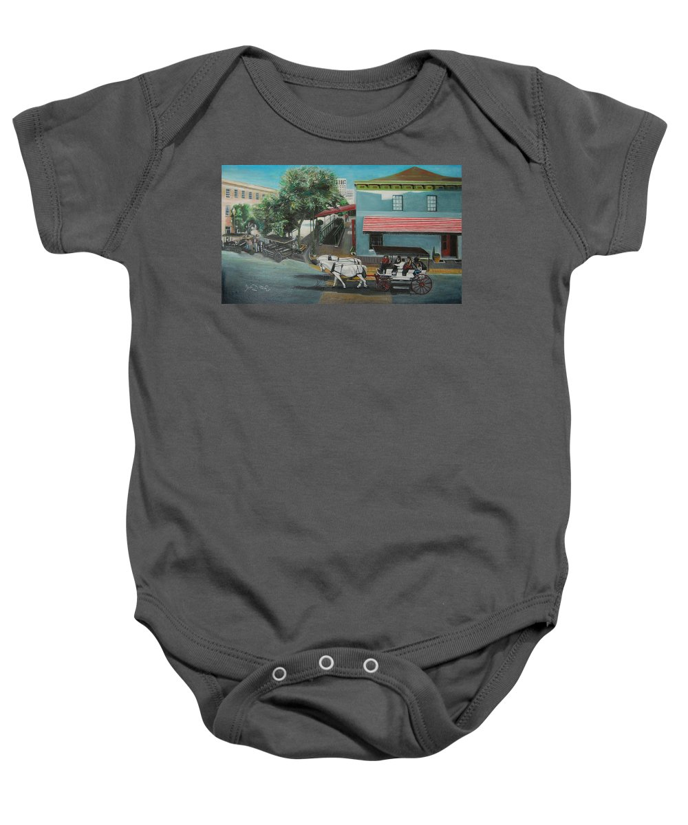 Baby Onesie featuring the painting Savannah City Market by Jude Darrien