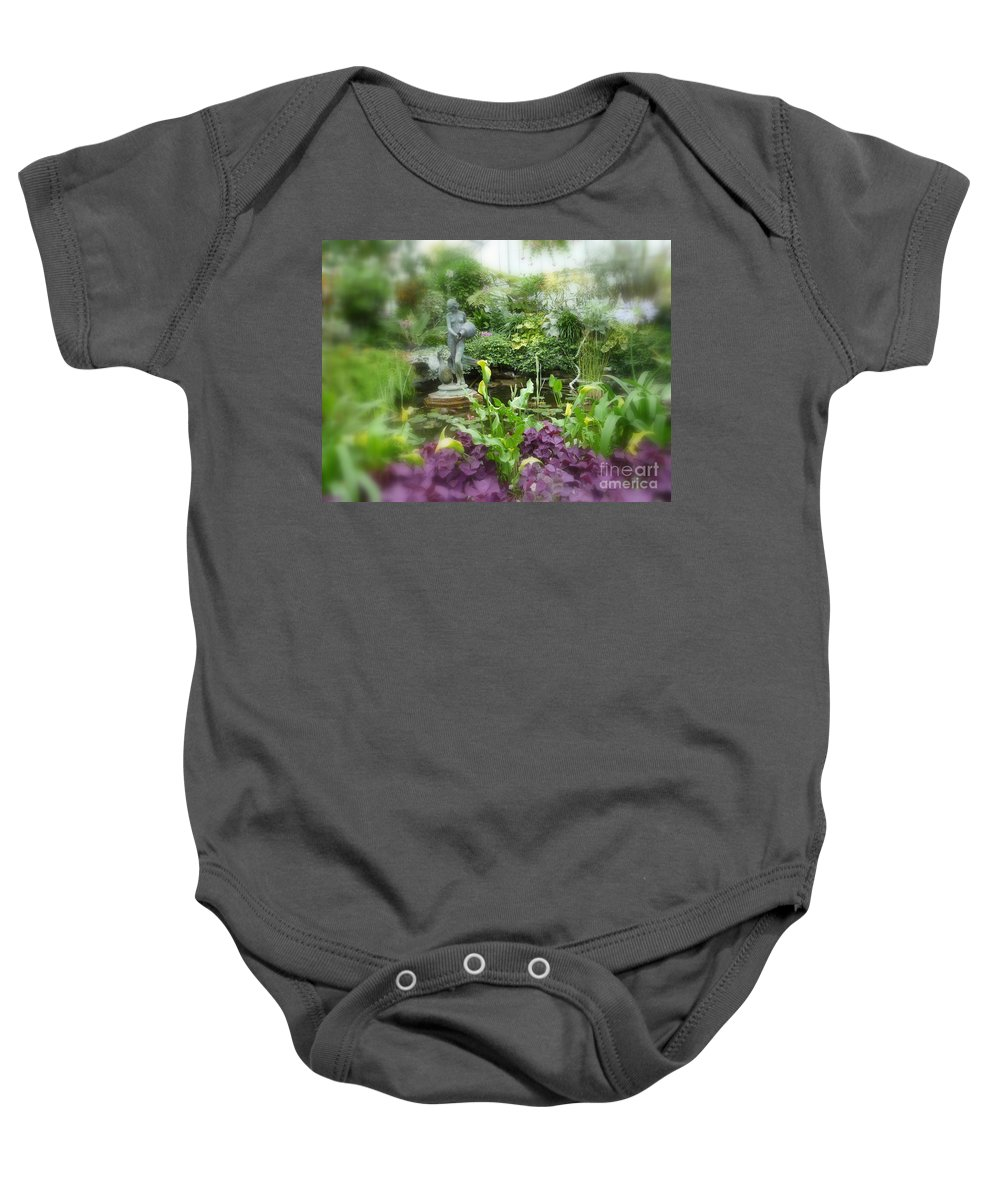 Beautiful Garden Baby Onesie featuring the photograph Secret Garden by Lingfai Leung