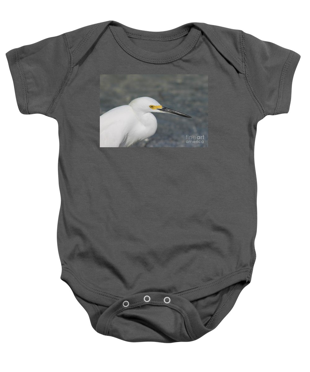 Ibis Baby Onesie featuring the photograph Shadows Of Yellow by Patricia Twardzik