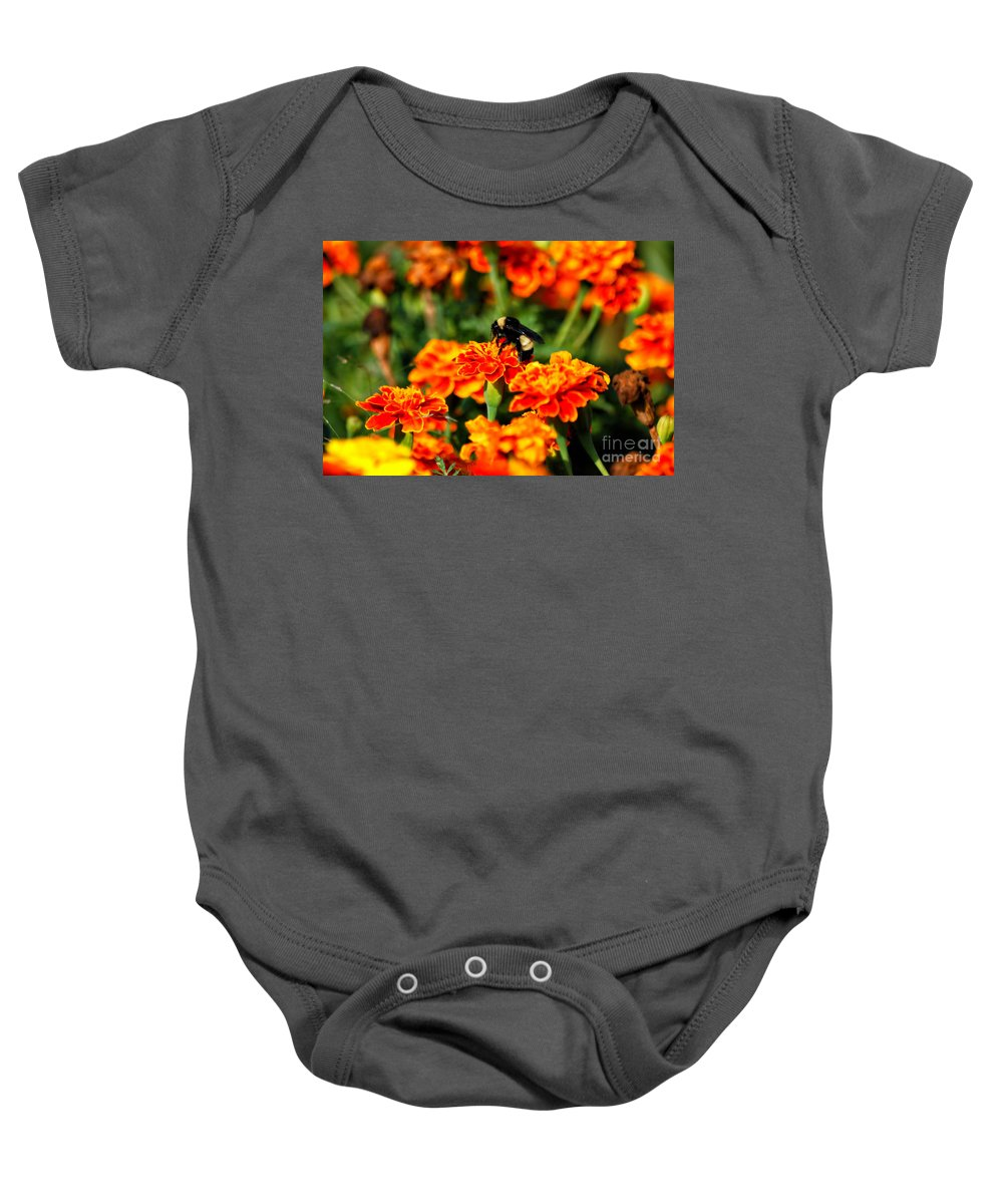 Animals Baby Onesie featuring the photograph Sharing The Nectar Of Life 02 by Thomas Woolworth