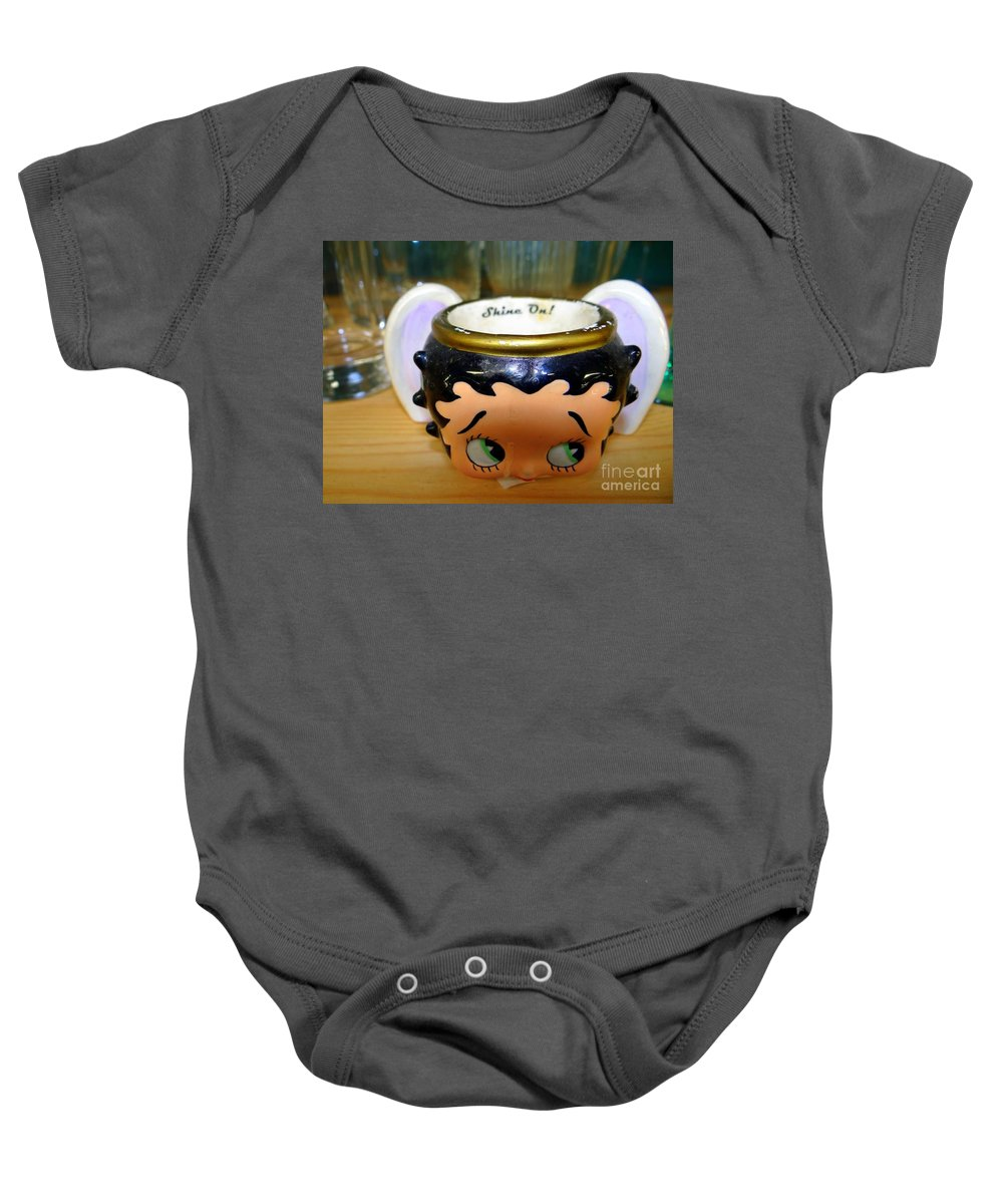 Cup Baby Onesie featuring the photograph Shine On by Ed Weidman