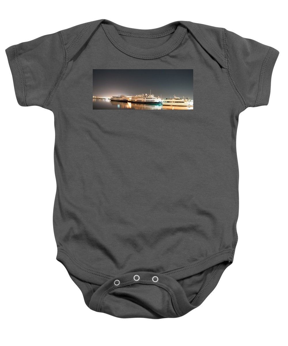Ship Baby Onesie featuring the digital art Ship by Gandz Photography