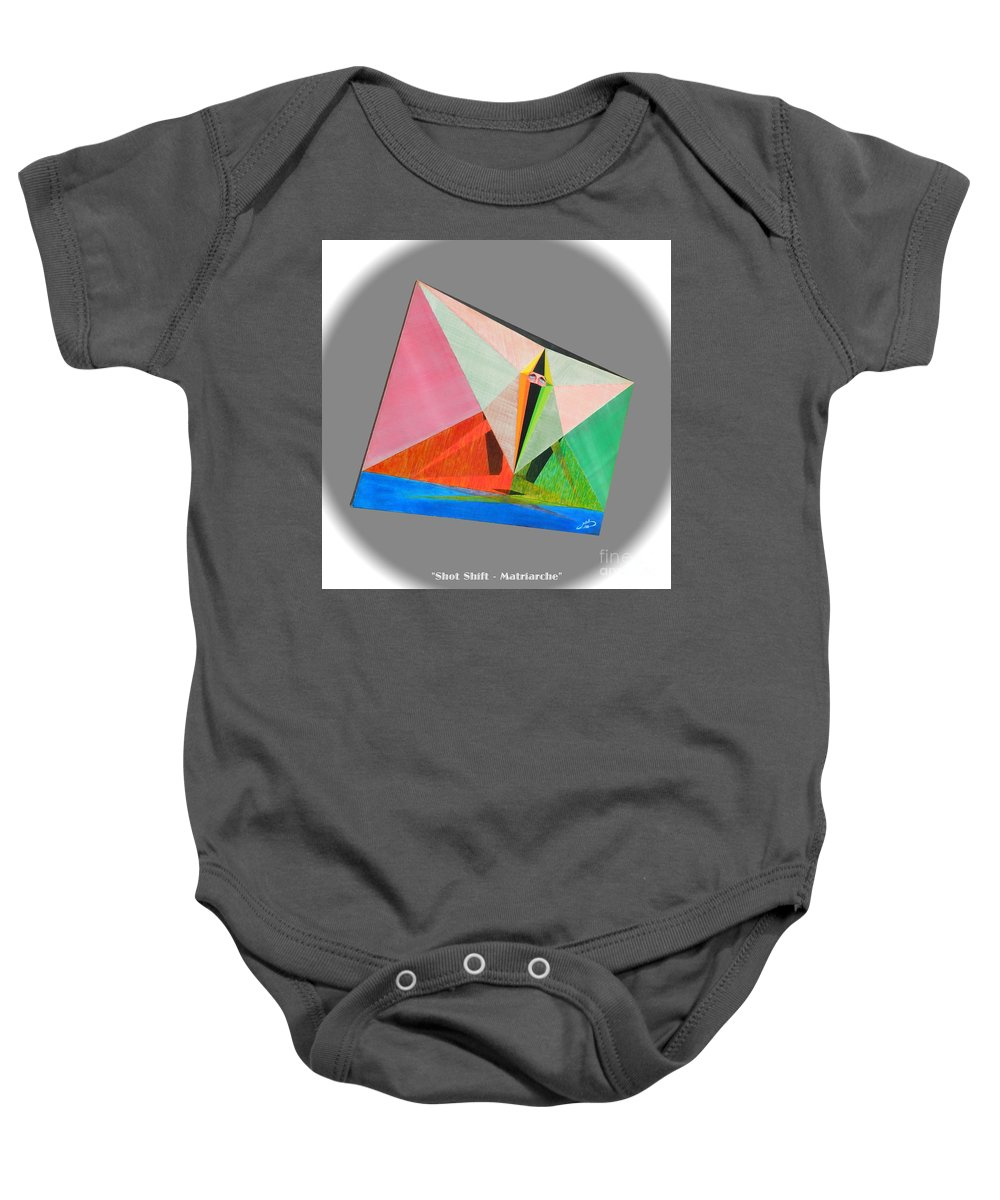 Spirituality Baby Onesie featuring the painting Shot Shift - Matriarche 2 by Michael Bellon